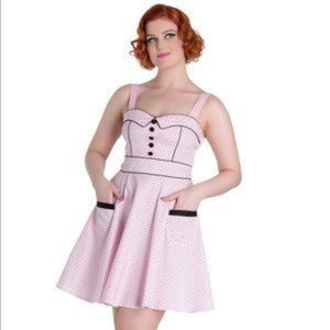 Hell Bunny Vanity Polka Dot Vintage Pin Dress XS